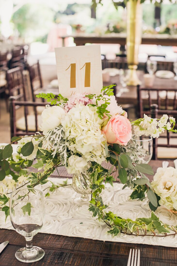 Classic, Chic White and Gold Table Numbers