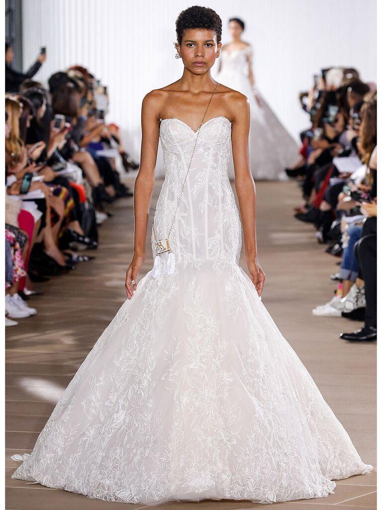 Ines Di Santo wedding dress strapless mermaid dress