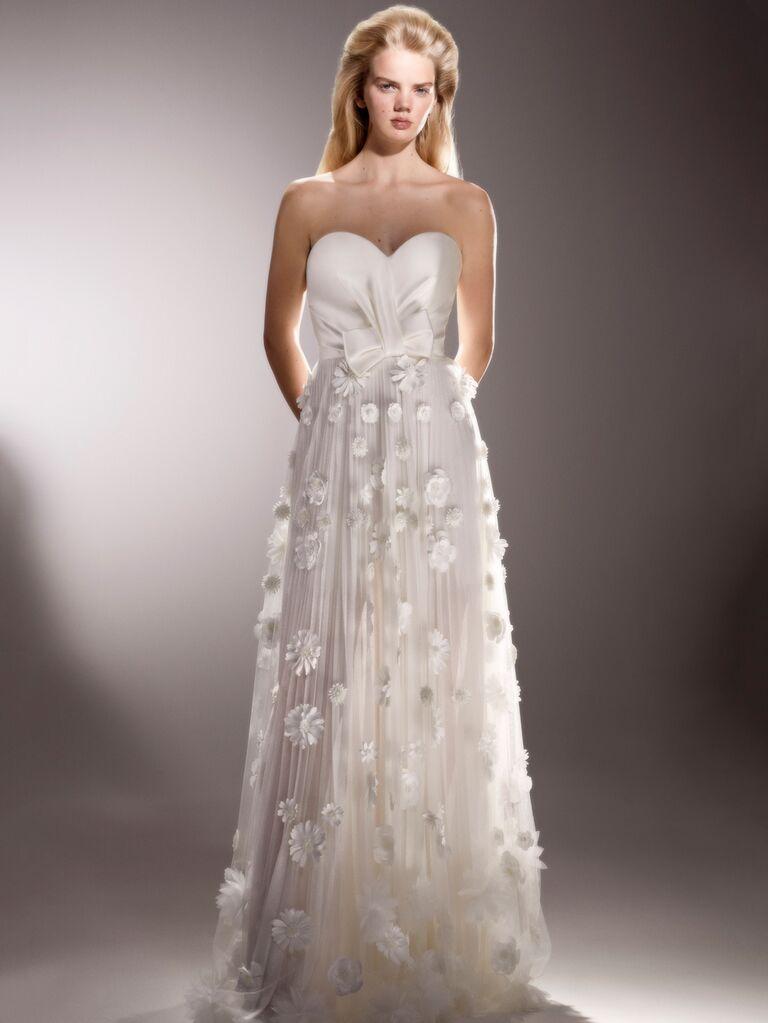 Viktor & Rolf Spring 2020 Bridal Collection floral appliqué wedding dress