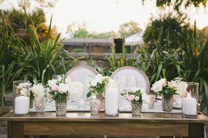 Romantic Rose and Mercury-Glass Centerpieces