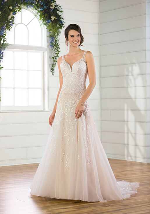 Essense of Australia D2715 A-Line Wedding Dress