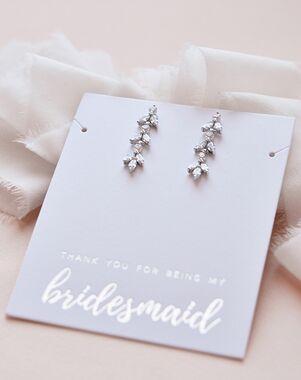 Dareth Colburn Sydney Floral CZ Earrings (JE-4140) Wedding Earring photo