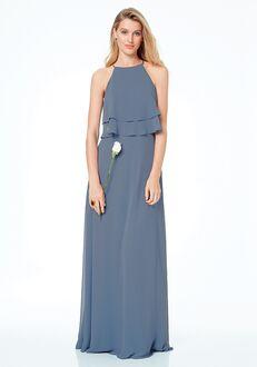 #LEVKOFF 7030 Halter Bridesmaid Dress