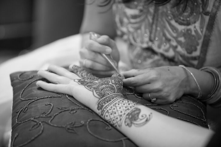 """Patricia and Snehal incorporated Indian, Taiwanese and American traditions throughout their Las Vegas, Nevada, nuptials. """"It was important for us to create an experience for our guests since almost all of them had traveled to be there,"""" Patricia says."""