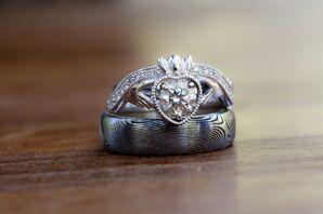 Irish Claddagh Silver Wedding Ring