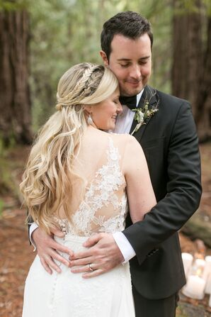 Half-Up Braided Bridal Hairstyle