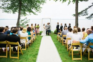 Sebago Lake Waterfront Wedding Ceremony