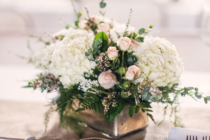 Romantic Centerpiece with Hydrangea and Roses