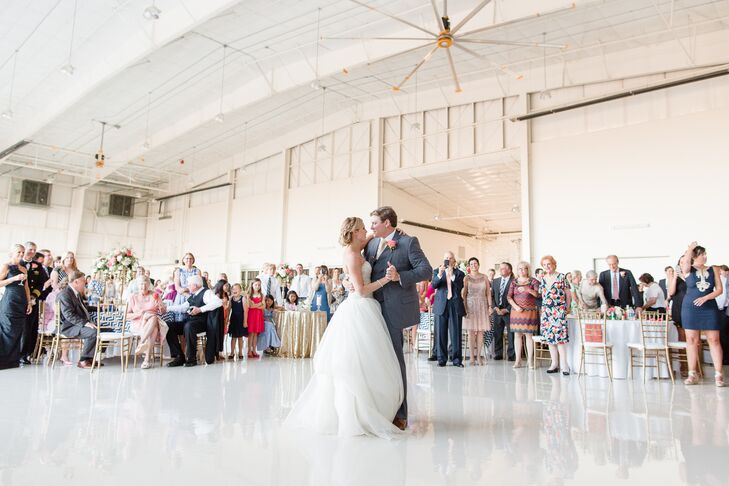 "After they got engaged, Kelsey and Andrew danced on the beach to Blake Shelton's ""Mine Would Be You."" Naturally, they selected it as their first-dance song. ""We sang it to each other the whole time we danced,"" Kelsey says."