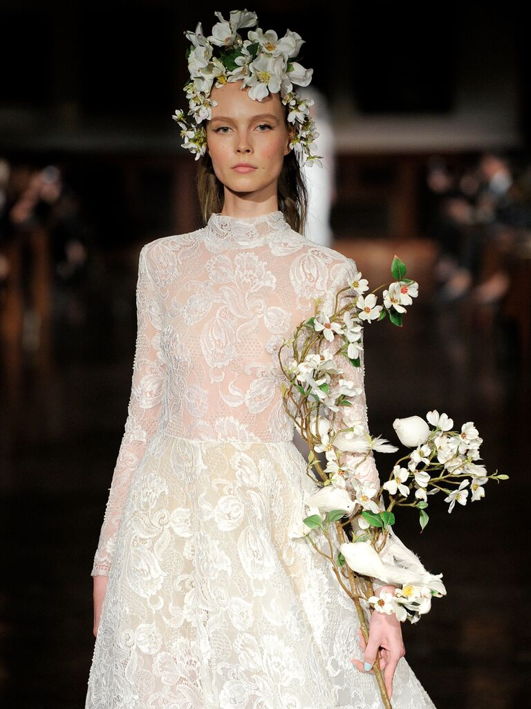 Reem Acra Spring 2019 Collection: Bridal Fashion Week Photos