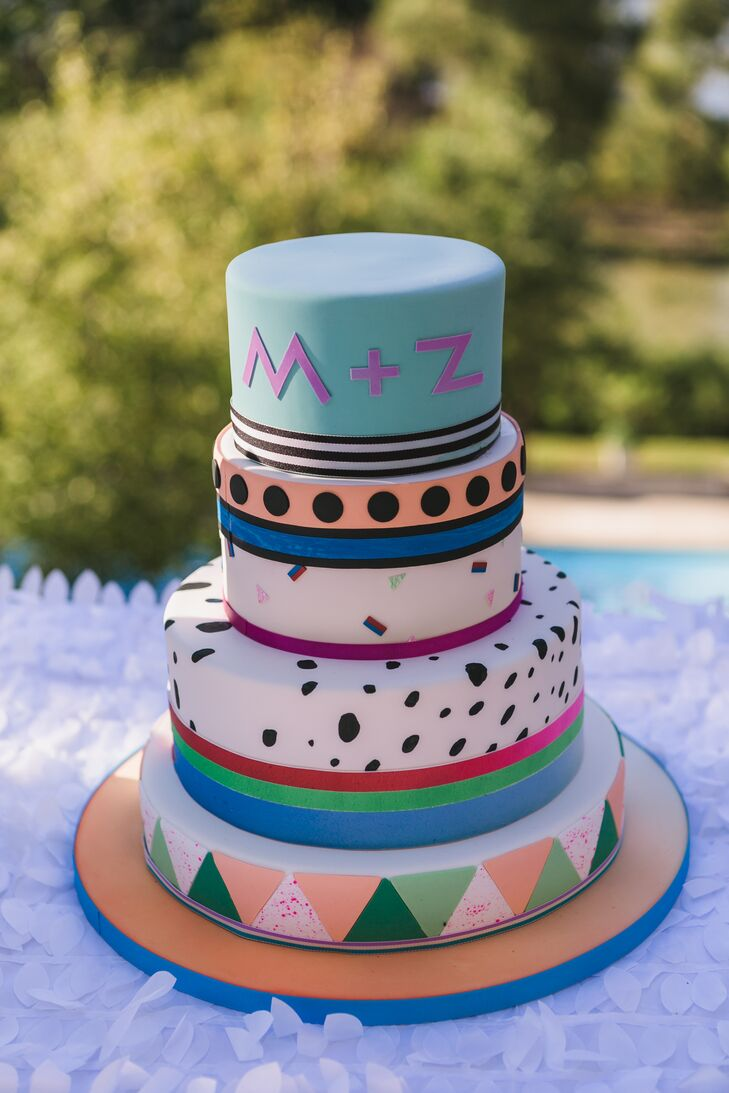 Colorful Geometric Wedding Cake