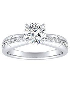 DiamondWish.com Classic Princess, Asscher, Cushion, Emerald, Marquise, Pear, Round, Oval Cut Engagement Ring