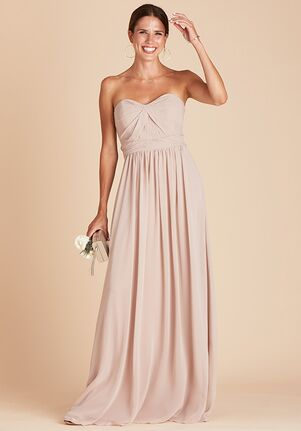 Birdy Grey Grace Convertible Dress in Taupe Strapless Bridesmaid Dress