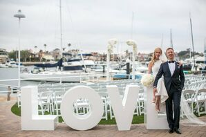 Glam Waterfront Wedding