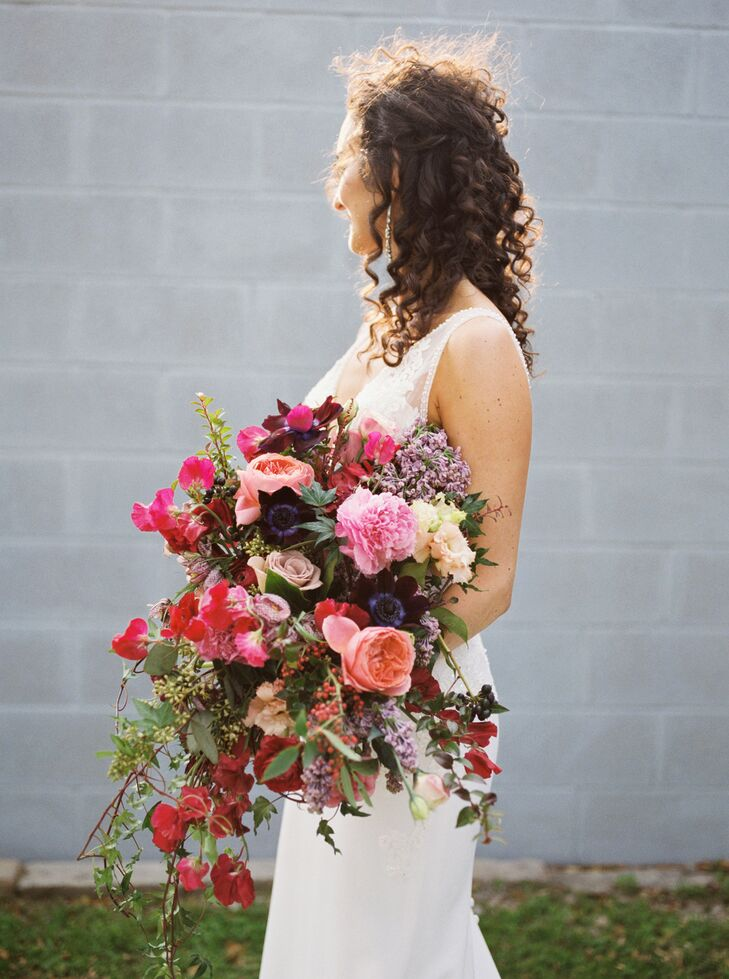Modern, Whimsical Bouquet with Pink and Red Flowers
