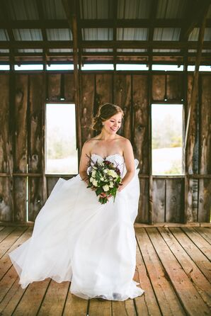 Strapless Leanne Marshall Wedding Gown