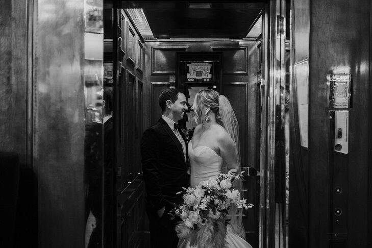 Modern, Elegant Couple at Hotel Sorrento in Seattle, Washington
