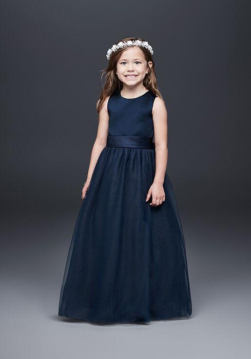 0e4b47b3e4d David s Bridal Flower Girl David s Bridal Style S1038 Blue Flower Girl Dress