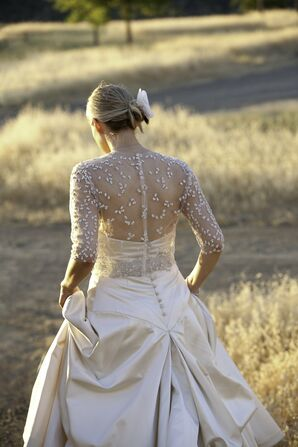 Wedding Gown with Sheer Back