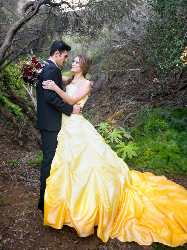 Beauty And The Beast Wedding Dress: 'Beauty And The Beast' Wedding Photo Shoot