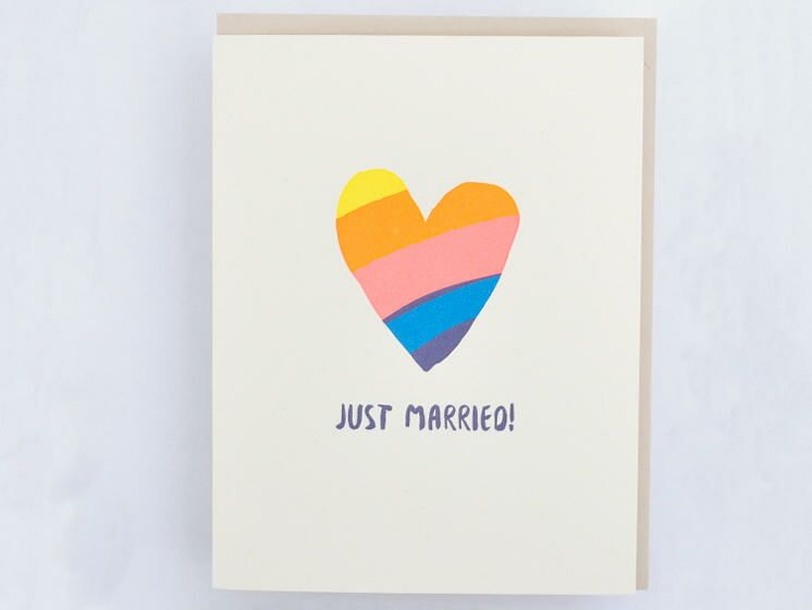 Just Married wedding card from Hello! Lucky