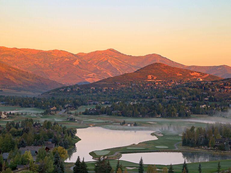 US wedding destination Park City, Utah