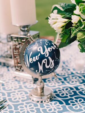 Hand-Painted Globe Table Markers