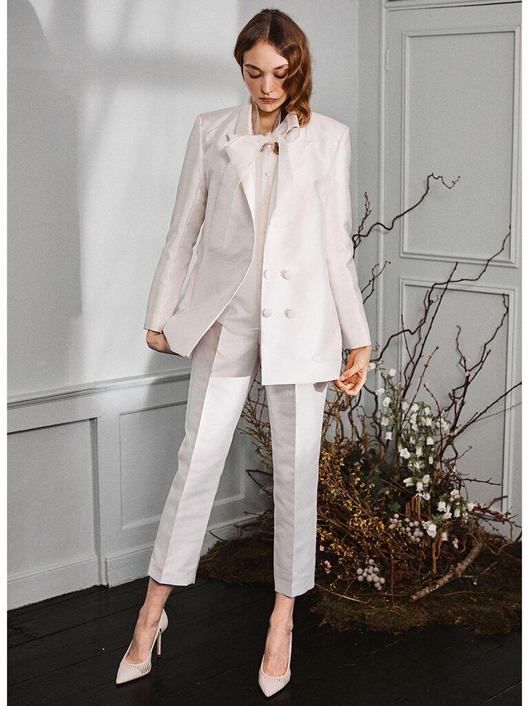 Halfpenny London wedding dress blazer with trousers