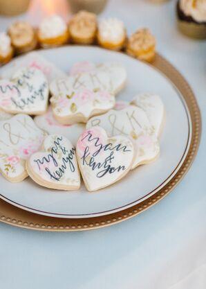 Cookies with Custom Monogrammed Calligraphy