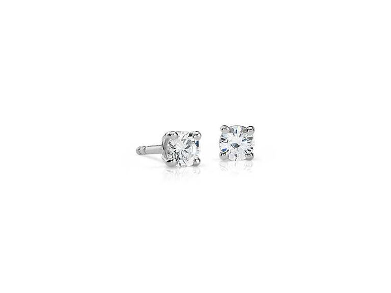 Diamond stud earrings modern 30th anniversary gift