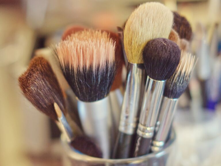 Getting ready: makeup brushes for the bride