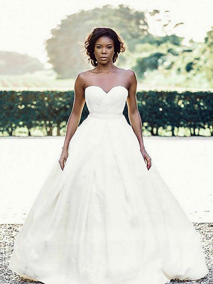 Gabrielle Union's strapless ball gown wedding dress