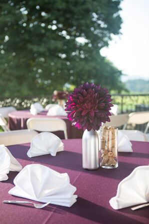 Diy Purple Wedding Decorations Accents