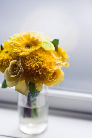 Bright Yellow Centerpieces