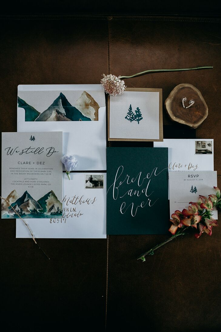 Rustic Wedding Invitations with Calligraphy