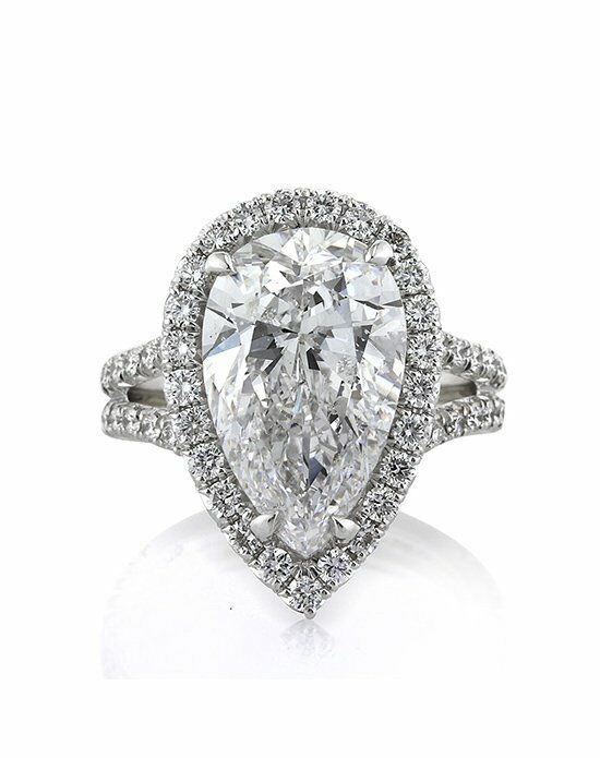 Mark Broumand 6.83ct Pear Shaped Diamond Engagement Ring ...