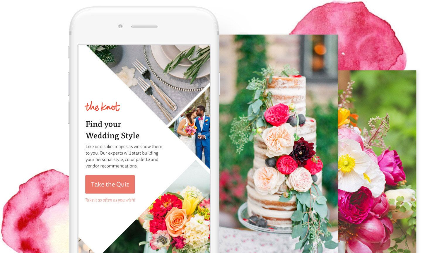 Find Your Wedding Style on The Knot App