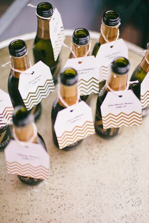 Miniature Champagne Bottles With Tags