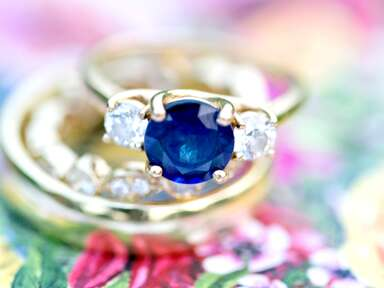 sapphire engagement ring with diamonds