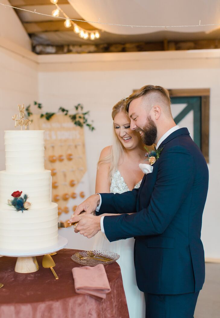 Traditional Cake Cutting with Tiered Wedding Cake