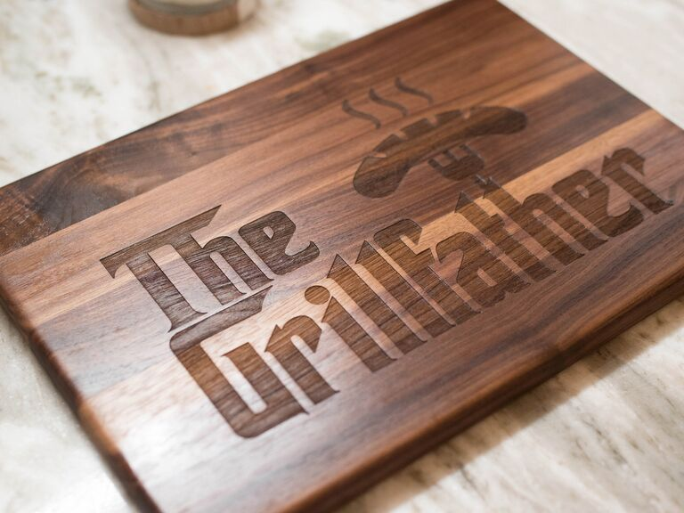 Funny cutting board grilling gift for father of the groom