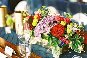 Purple and Red Fall Centerpieces