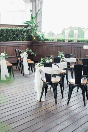 Modern Rooftop Ceremony at B&B Butchers in Houston, Texas
