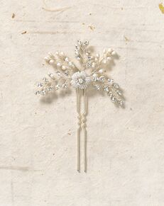 To Have & To Borrow Riley Ivory, Silver Pins, Combs + Clip