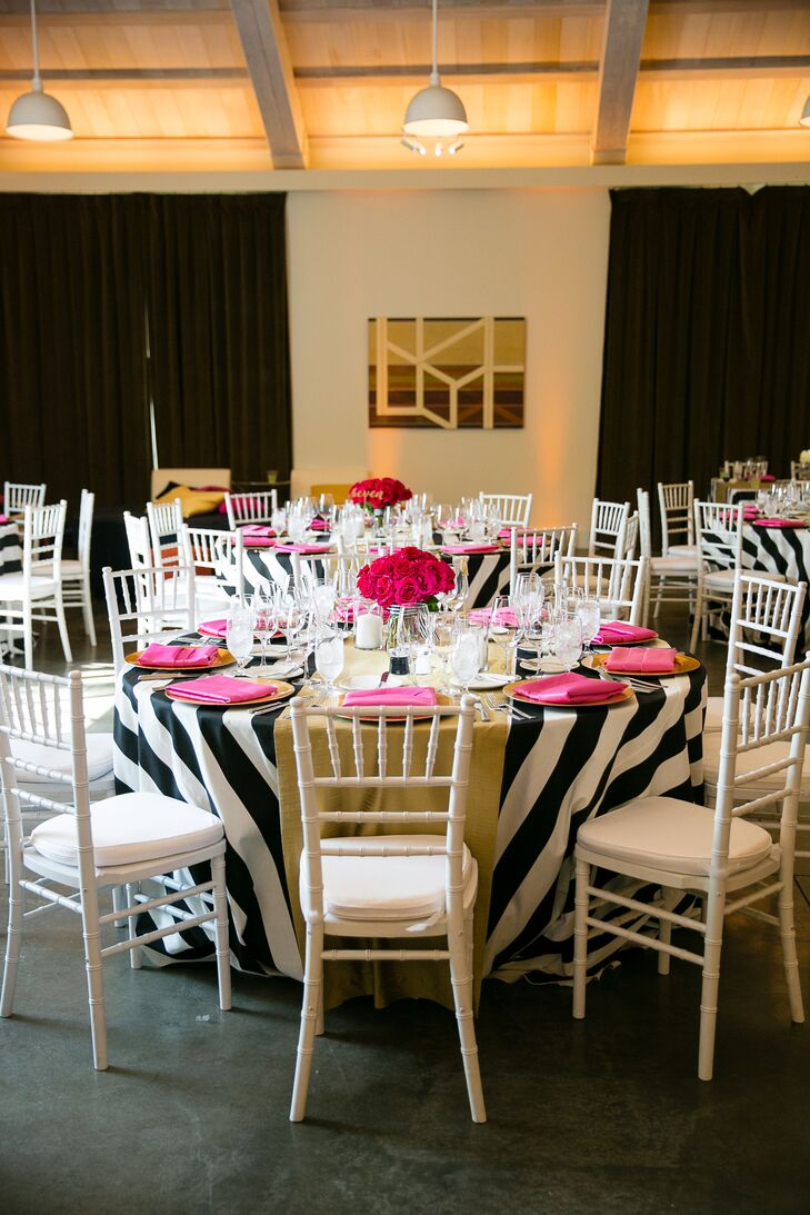 kate spade-inspired wedding decor
