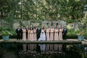 Pink and Black Bridal Party Look