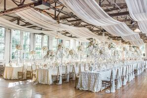 Glamorous Rustic Industrial Reception