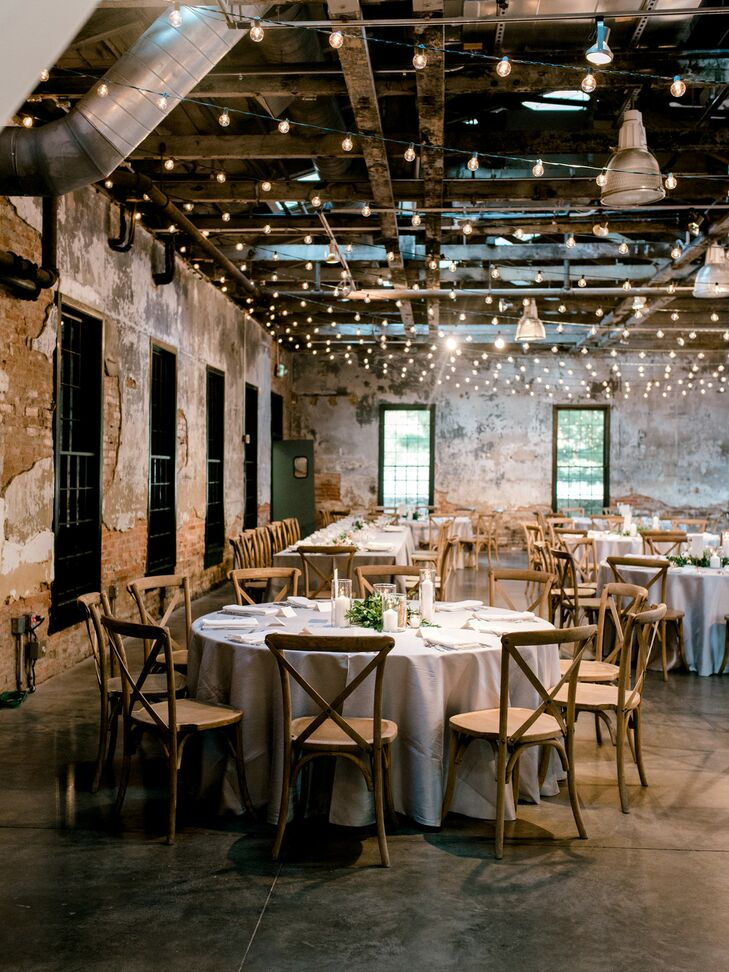 Modern and Industrial Reception at Mt. Washington Mill Dye House in Baltimore, Maryland