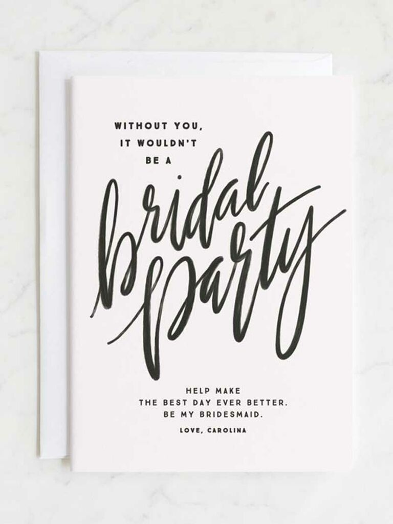 party hearty bridesmaid proposal card