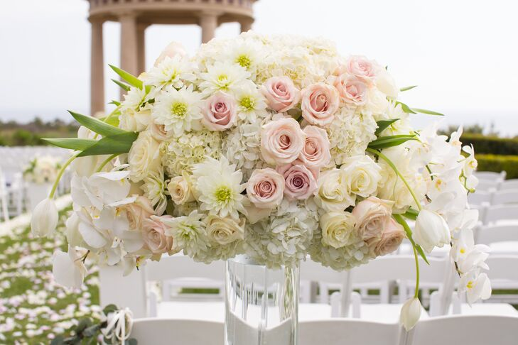 Ivory And Blush Flower Arrangement